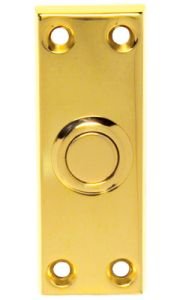 PVD Brass Oblong Door Bell Push