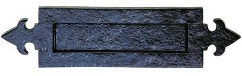 Ludlow Foundries Black Iron Fleur de Lys Letter Plate