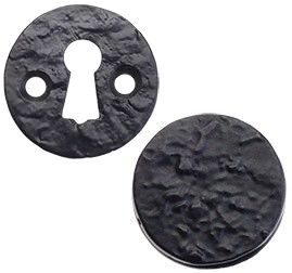 Foxcote Foundries Black Iron Round Escutcheon