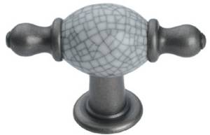 Crackle Porcelain Knob with Finial