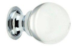 Clear Glass Ball Cabinet Knob