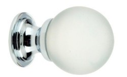 Frosted Glass Ball Cabinet Knob