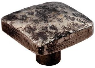 Hammered Effect Square Cupboard Knob