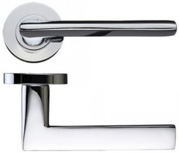 Vitorria Door Handles on Rose