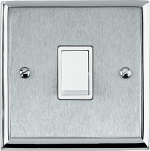 Dual Chrome Edge Light Switches