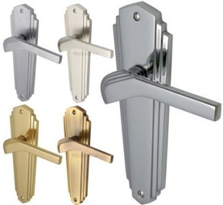 Waldorf Art Deco Door Handles World Of Brass