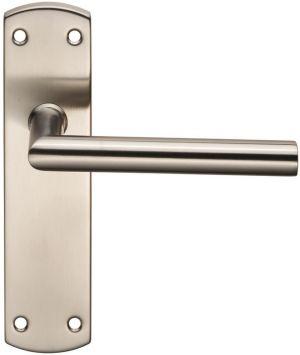 Stainless Steel Mitred Door Handles On Backplate