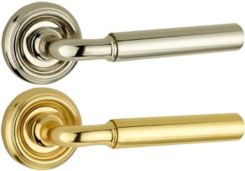 Parisian Elise Door Handles on Rose