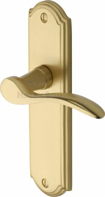 Satin Brass Howard Door Handles