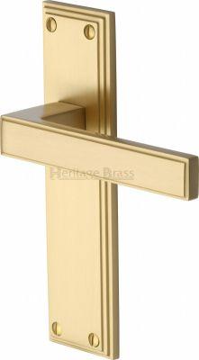 Satin Brass Atlantis Door Handles
