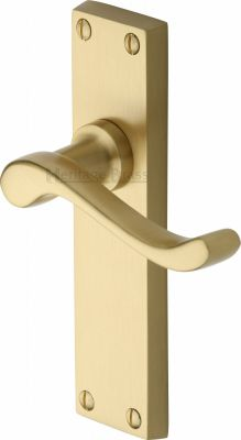 Satin Brass Bedford Door Handles