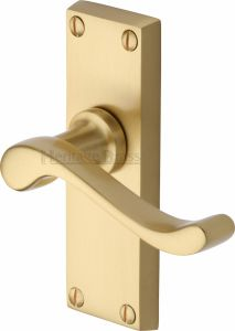 Satin Brass Bedford Short Latch Door Handles