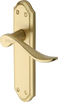 Satin Brass Sandown Door Handles
