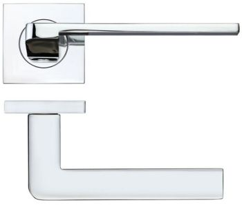 Maia Door Handles on Square Rose
