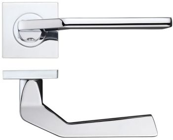 Auriga Door Handles on Square Rose