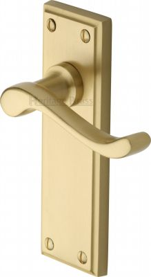 Satin Brass Edwardian Door Handles