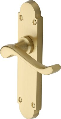Satin Brass Savoy Door Handles