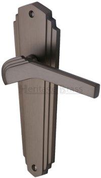 Matt Bronze Waldorf Door Handles