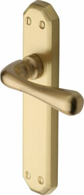 Satin Brass Charlbury Door Handles