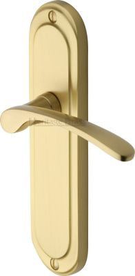 Satin Brass Ambassador Door Handles