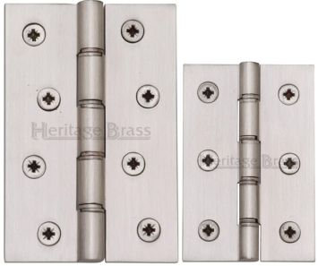 Satin Nickel Hinges (pair)