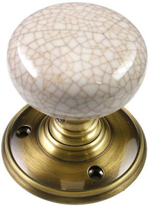 Delamain Ivory Crackle Porcelain Door Knobs World Of Brass