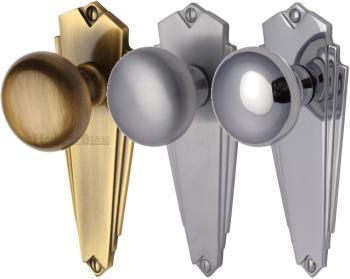Broadway Art Deco Door Knobs | World of Brass