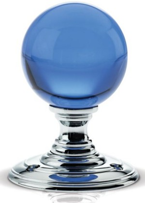 Blue Glass Ball Door Knobs