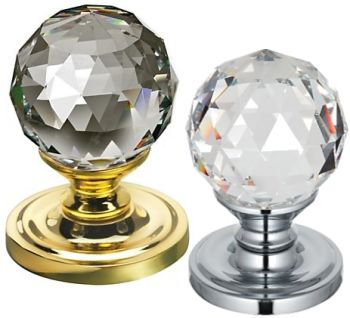 Swarovski Faceted Crystal Door Knobs