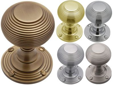 Beehive Reeded Door Knobs
