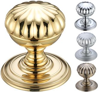 Fulton and Bray Flower Door Knobs