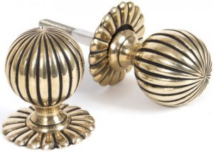 Brass Flower Door Knobs