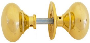 Unlacquered Brass Rim Knobs