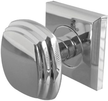 Art Deco Door Knobs on Square Rose