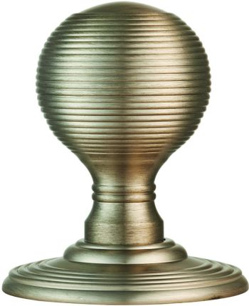 Delamain Satin Nickel Reeded Door Knobs