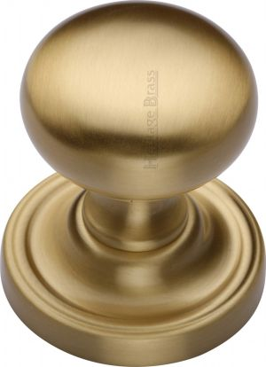 Satin Brass Hampstead Door Knobs