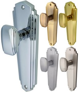 Charlston Art Deco Door Knobs  sc 1 st  World of Brass & Charlston Art Deco Door Knobs | World of Brass pezcame.com