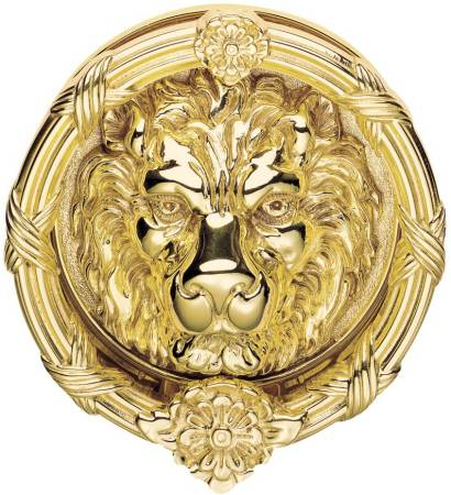 Large Brass Lion Head Door Knockers