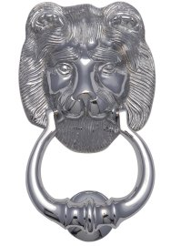 Chrome Lion Door Knocker