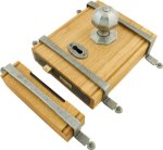 Oak Box Lock - Pewter