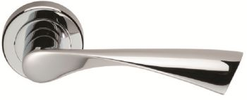 Breeze Door Handles on Rose