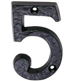 Ludlow Foundries Black Iron Door Numbers