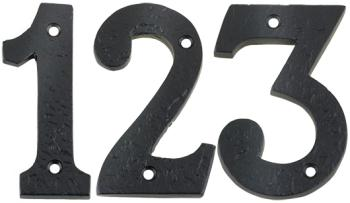 Foxcote Foundries Black Iron Door Numbers