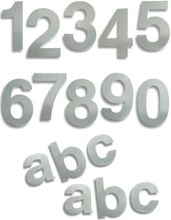 Large Stainless Steel Door Numbers