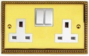 Brass Georgian Plug Sockets