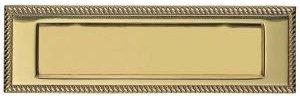 Georgian Brass Letter Plate