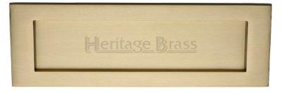 Satin Brass Letter Plate