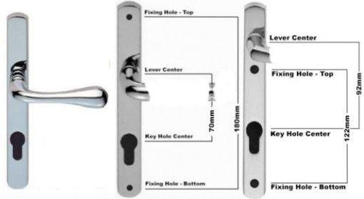 uPVC Door Handle Series 001