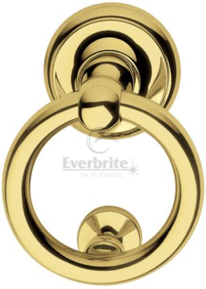PVD Brass Ring Door Knocker