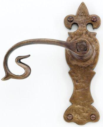 Bronze Curly Tail Door Handles